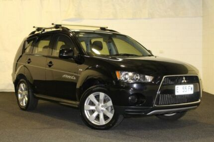 2012 Mitsubishi Outlander ZH MY12 Enhancement Pack Black/Grey 6 Speed Constant Variable Wagon Derwent Park Glenorchy Area Preview