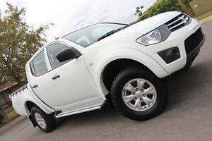 2013 Mitsubishi Triton White Manual Utility Hillcrest Port Adelaide Area Preview