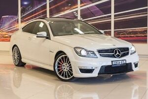 2012 Mercedes-Benz C63 C204 MY12 AMG SPEEDSHIFT MCT Performance Package White 7 Speed Blacktown Blacktown Area Preview