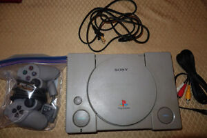 Playstation PS1 Console + Controller + Memory Card - Tested