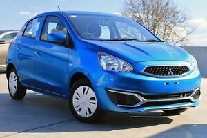 2016 Mitsubishi Mirage Blue Constant Variable Hatchback Nunawading Whitehorse Area Preview