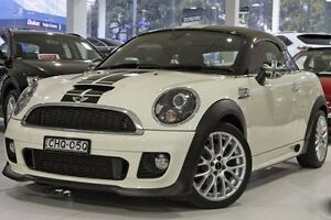 2012 Mini Coupe R58 John Cooper Works White 6 Speed Sports Automatic Coupe North Melbourne Melbourne City Preview