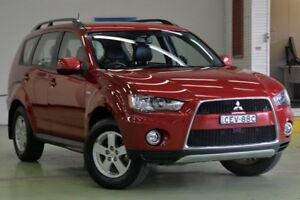 2012 Mitsubishi Outlander ZH MY12 Platinum Edition (FWD) Burgundy 6 Speed CVT Auto Sequential Wagon Lisarow Gosford Area Preview