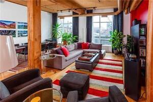 Quintessential Toronto Authentic Wood Beam LOFT 1700sqft !