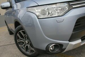 2014 Mitsubishi Outlander ZJ MY14 Aspire Phev Hybrid Arctic Silver 1 Speed Automatic Wagon Wolli Creek Rockdale Area Preview