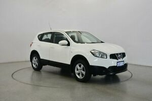 2012 Nissan Dualis J10W Series 3 MY12 ST Hatch X-tronic 2WD White 6 Speed Constant Variable