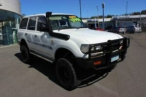 1996 Toyota Landcruiser HZJ80R DX White 5 Speed Manual Wagon Burnie Burnie Area Preview