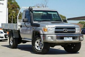 2009 Toyota Landcruiser Silver Manual Cab Chassis