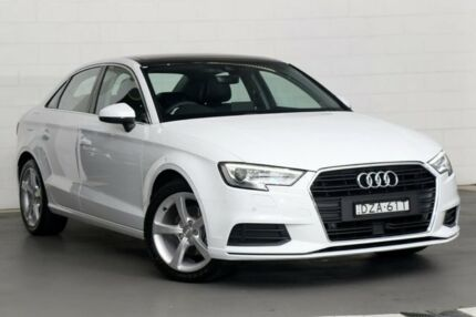 2018 Audi A3 8V MY18 S Tronic White 7 Speed Sports Automatic Dual Clutch Sedan Zetland Inner Sydney Preview