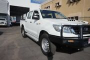 2014 Toyota Hilux KUN26R MY14 SR Double Cab Glacier White 5 Speed Manual Utility Dalby Dalby Area Preview