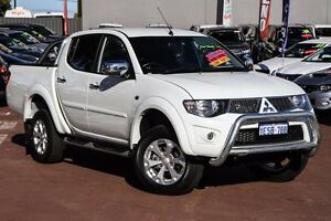 2015 Mitsubishi Triton MN MY15 GLX-R Double Cab White 5 Speed Manual Utility Cannington Canning Area Preview