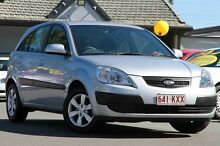 2008 Kia Rio JB MY07 LX Clear Silver 5 Speed Manual Hatchback Bray Park Pine Rivers Area Preview