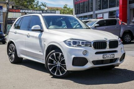 2018 BMW X5 F15 xDrive30d White 8 Speed Sports Automatic Wagon Brookvale Manly Area Preview