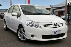 2012 Toyota Corolla White Automatic Hatchback Keysborough Greater Dandenong Preview