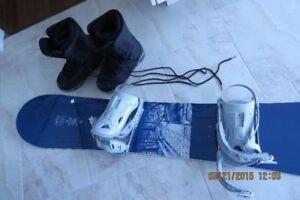 Ensemble planche, fixation et bottes