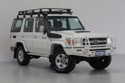 2008 Toyota Landcruiser VDJ76R GXL (4x4) White 5 Speed Manual Wagon