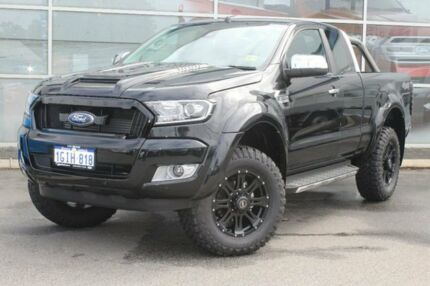 2017 Ford Ranger PX Mkii MY17 Update XLT 3.2 (4x4) Jet Black 6 Speed Automatic Super Cab Utility