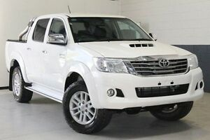 2015 Toyota Hilux KUN26R MY14 SR5 Double Cab White 5 Speed Manual Utility Nailsworth Prospect Area Preview