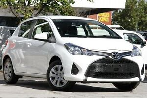 2014 Toyota Yaris NCP130R Ascent Glacier White 5 Speed Manual Hatchback Christies Beach Morphett Vale Area Preview
