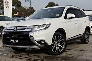 2017 Mitsubishi Outlander ZK MY17 Exceed 4WD White 6 Speed Constant Variable Wagon Nunawading Whitehorse Area Preview