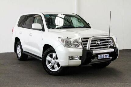 2010 Toyota Landcruiser VDJ200R MY10 Sahara White Pearl Crystal Shine 6 Speed Sports Automatic Wagon Myaree Melville Area Preview