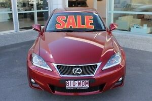 2013 Lexus IS350 GSE21R MY13 X Red 6 Speed Sports Automatic Sedan Mount Gravatt Brisbane South East Preview
