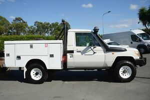 2011 Toyota Landcruiser VDJ79R MY10 Workmate White Solid 5 Speed Manual Cab Chassis Acacia Ridge Brisbane South West Preview