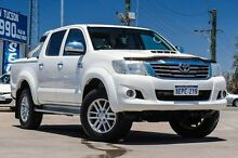 2013 Toyota Hilux KUN26R MY12 SR5 Double Cab White 5 Speed Manual Utility Bellevue Swan Area Preview