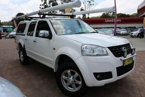 2013 Great Wall V200 K2 (4x2) White 6 Speed Manual Dual Cab Utility Campbelltown Campbelltown Area Preview