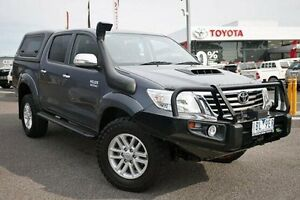 2014 Toyota Hilux KUN26R MY14 SR5 Double Cab Grey 5 Speed Automatic Utility Keysborough Greater Dandenong Preview