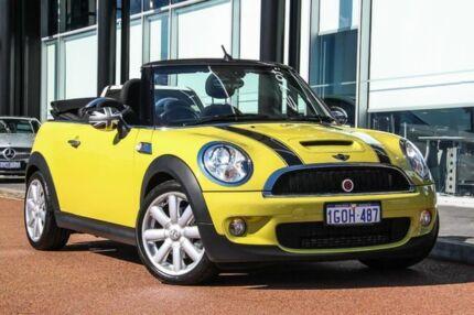 2010 Mini Cabrio Yellow Manual Convertible St James Victoria Park Area Preview