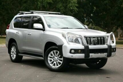 2009 Toyota Landcruiser Prado GRJ150R Kakadu Silver 5 Speed Sports Automatic Wagon Slacks Creek Logan Area Preview