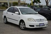 2004 Toyota Corolla ZZE122R Ascent White 4 Speed Automatic Sedan Pearsall Wanneroo Area Preview