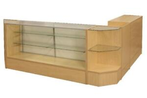 showcase, cash desk, dispensary case, reception desk, cash desk, cash counter, display case