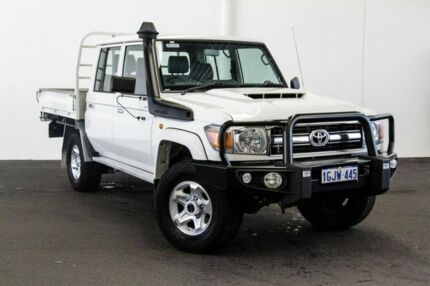 2017 Toyota Landcruiser VDJ79R GXL Double Cab French Vanilla 5 Speed Manual Cab Chassis Myaree Melville Area Preview