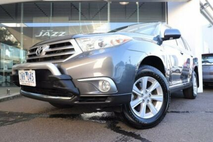 2012 Toyota Kluger GSU40R MY12 KX-R 2WD Grey 5 Speed Sports Automatic Wagon Hoppers Crossing Wyndham Area Preview