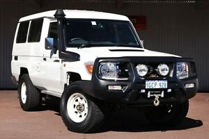 2011 Toyota Landcruiser VDJ78R MY10 GXL Troopcarrier White 5 Speed Manual Wagon Northbridge Perth City Area Preview
