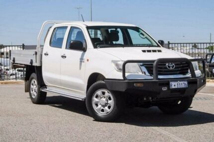 2013 Toyota Hilux KUN26R MY12 SR (4x4) White 4 Speed Automatic Dual Cab Pickup