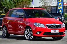 2012 Skoda Fabia 5JF MY12 RS DSG 132TSI Corrida Red 7 Speed Sports Automatic Dual Clutch Hatchback Southport Gold Coast City Preview