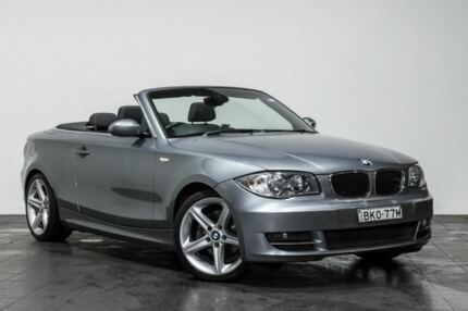 2009 BMW 125I E88 Grey 6 Speed Automatic Convertible Rozelle Leichhardt Area Preview