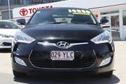 2012 Hyundai Veloster FS2 + Coupe Black/Grey 6 Speed Manual Hatchback Woolloongabba Brisbane South West Preview