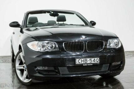 2009 BMW 120i E88 Black 6 Speed Automatic Convertible