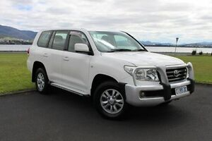 2008 Toyota Landcruiser VDJ200R GXL White 6 Speed Sports Automatic Wagon Invermay Launceston Area Preview