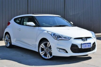 2013 Hyundai Veloster FS2 Coupe D-CT White 6 Speed Sports Automatic Dual Clutch Hatchback Midvale Mundaring Area Preview