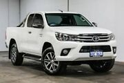 2015 Toyota Hilux GUN126R SR5 Extra Cab White 6 Speed Manual Utility Welshpool Canning Area Preview