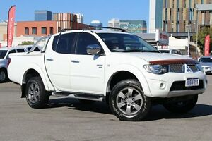 2011 Mitsubishi Triton MN MY11 GLX-R Double Cab Solid White 5 Speed Sports Automatic Utility Northbridge Perth City Area Preview