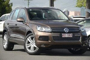 2012 Volkswagen Touareg 7P MY13 V6 TDI Tiptronic 4MOTION Brown 8 Speed Sports Automatic Wagon Macgregor Brisbane South West Preview