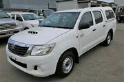 2014 Toyota Hilux KUN16R MY14 SR Double Cab 4x2 Glacier White 5 Speed Manual Utility Cheltenham Kingston Area Preview