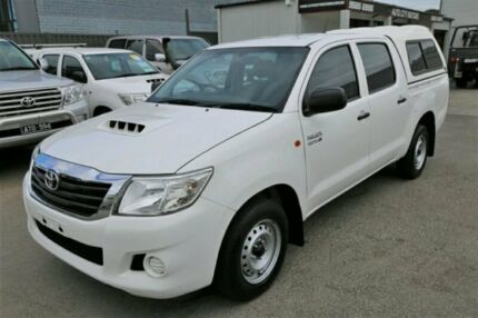2014 Toyota Hilux KUN16R MY14 SR Double Cab 4x2 Glacier White 5 Speed Manual Utility Cheltenham Kingston Area Preview