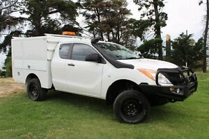 2013 Mazda BT-50 XT (4x4) White 6 Speed Manual Beaconsfield Cardinia Area Preview